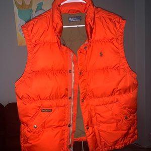 Ralph Lauren puffer vest orange size XL